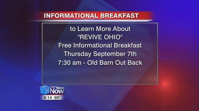 To learn more, there's a free breakfast on Thursday, September 7th at Old Barn Out Back beginning at 7:30.