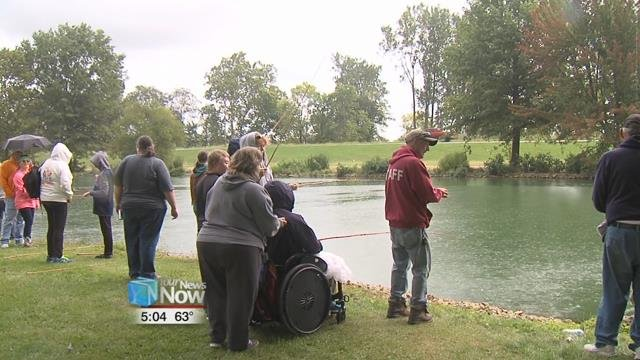 The Lake Improvement Association put on their yearly Special Needs Children's Fishing Outing.