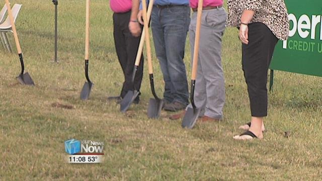Ground was broken at the location for the new office, which will be on Main Street.