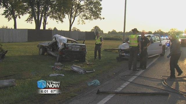 The crash happened just before 7:30 at the intersection of Allentown and Wapak Roads.