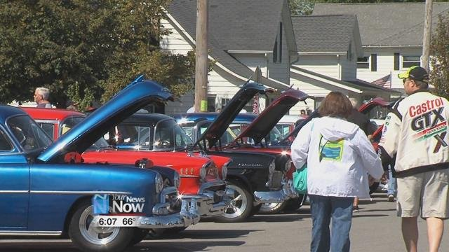 Saturdayfeatured a car show across the midway in downtown Kalida.