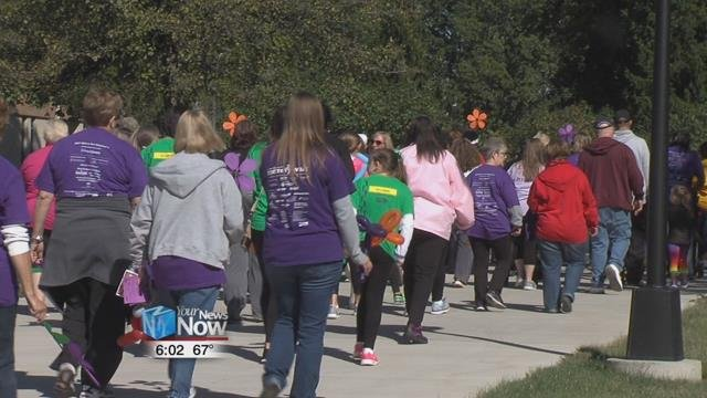 The walk is put on by the Alzheimer's Association and is the world's largest event to raise awareness for the disease, which often is forgotten about compared to other diseases.