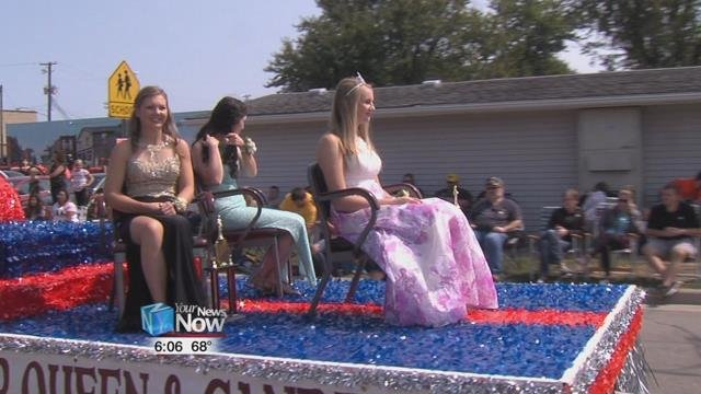 For Pioneer Days Queen Tori Niese this is her first time in the parade and happy to represent the festival in the parade.