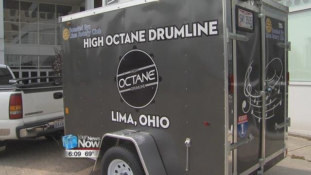 The Lima Rotary Club has supported the drumline for several years and Monday they donated a box trailer to the program.