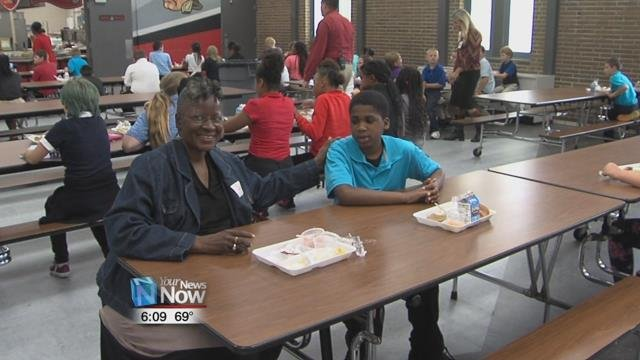 It's Grandparent's Week and the students are inviting them to lunch.