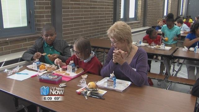 The school will see grandparents coming to lunch throughout the week.