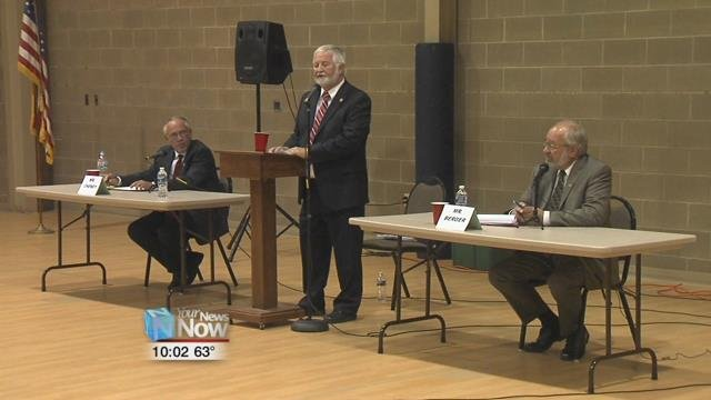 It was a tense environment as Dr. Matthew J. Kinkley moderated hot topics between Incumbent Mayor, David Berger, and his opponent, Keith Cheney.