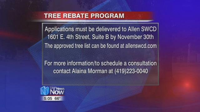 Applications for the rebate must be delivered to the Allen Soil and Water Conservation District office at 1601 East Fourth Street Suite B, Lima by November 30th