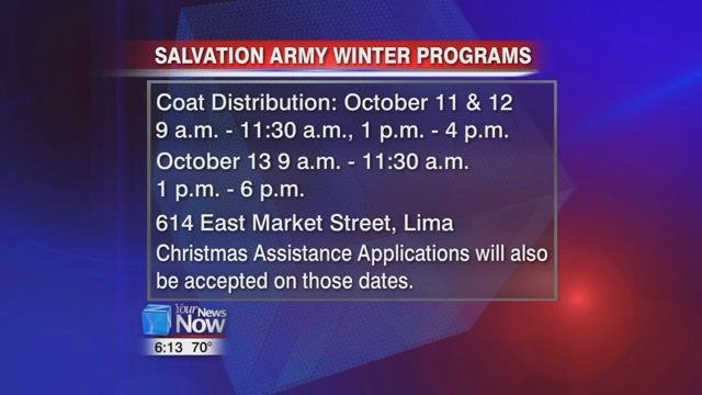 Applications for the Christmas assistance programs will also be accepted on these dates.