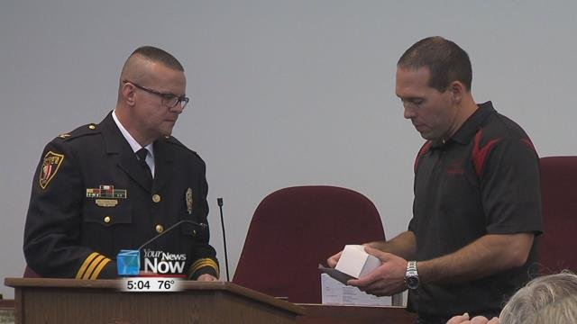 The city held a farewell party for Chief Hunlock, where law enforcement and community members alike were part of the festivities.