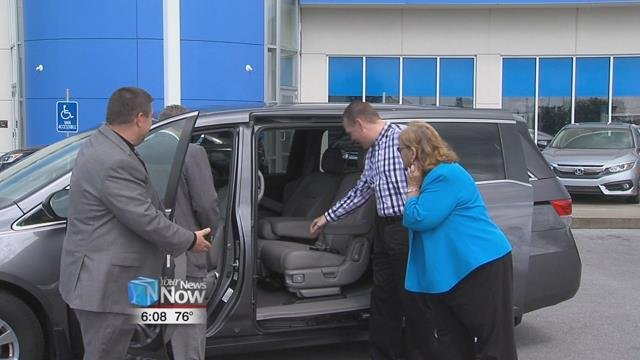 Honda Transmission Manufacturing of American Inc. donated a vehicle to Family Promise.