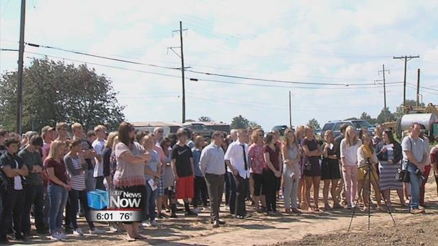 A large group of people were present at the ceremony, including Tri Star students and superintendents.