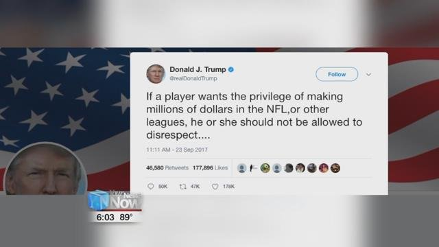 President Trump says protests leave NFL in 'a very bad box'
