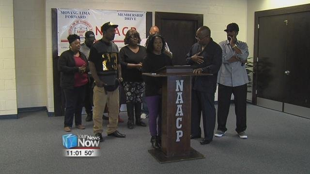 The Lima Chapter of the NAACP holding a press conference this afternoon to talk about the incident involving Kenyatta Seccession and L-P-D Officers from earlier this week.