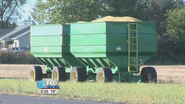 With a chance of showers moving in by the middle of the week, you can expect farmers harvesting what they can before the rain arrives.