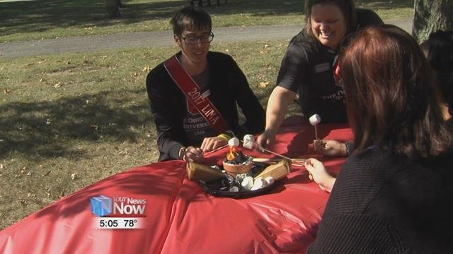 The OSU Lima's homecoming court hosts a picnic for all students to kick off the eventful week.