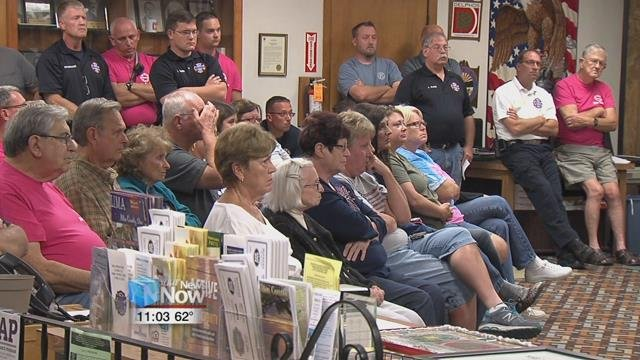 Monday night, several former, current emergency personnel and members of the public voiced their concerns at the podium, and a councilman-at-large shared his thoughts.