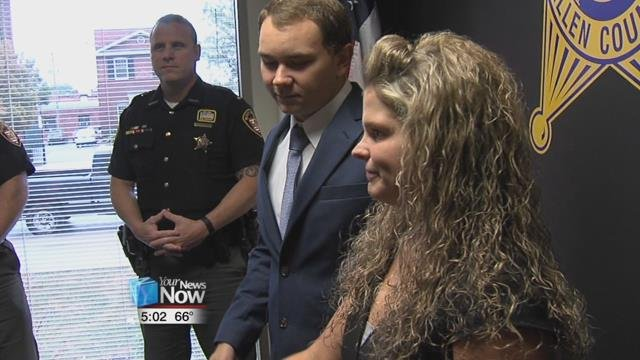 Allen County Sheriff Matt Treglia officially welcomed two new deputies, Brianna Cotterman and Kurt Boan, as they were sworn in Thursday morning.