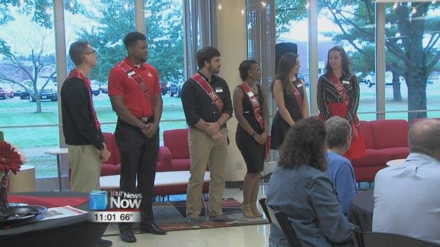 The Ohio State Lima Homecoming Court was also honored tonight at the program, the King and Queen for the Lima Campus will be picked this weekend down in Columbus.