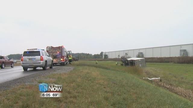 The accident happened just after 12:30 Fridayafternoon near exit 1-22 on I-75, where a car and semi truck were southbound when the car made contact with the semi.