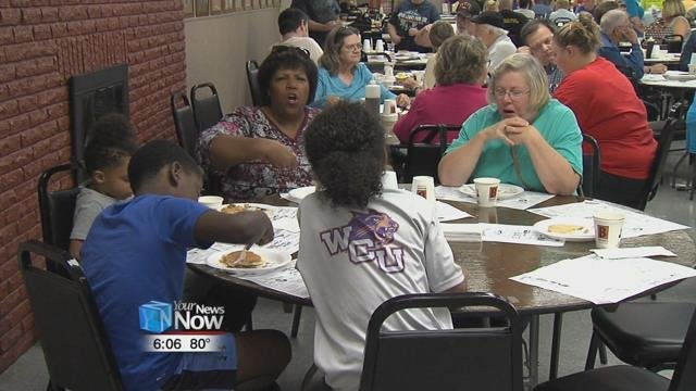 For the past 21 years, the pancake day has grown into the FOP Lodge's biggest fundraiser
