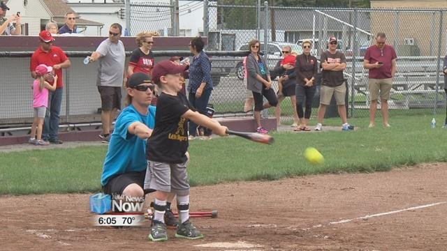 This is the second year that Kalida hosted the Softball Game for Special Needs Children.