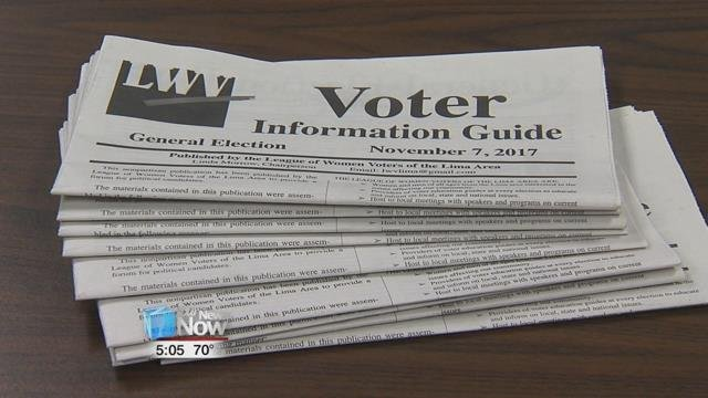 The Voters Information Guide published by the League of Women Voters of the Lima area is now available.