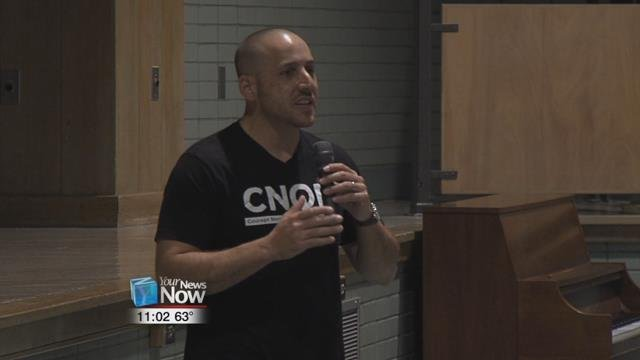 This is the second time that Kevin Hines has been in our area to talk to residents about his suicide attempt and his mission to help others.