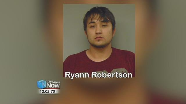 Ryann Robertson of Rockford was arrested and is being held on a $100,000 bond at the Mercer County Jail.