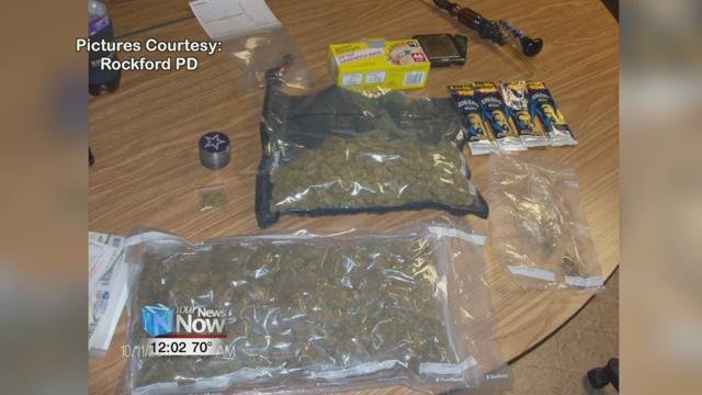 Police say they found large amounts of marijuana and cash inside.