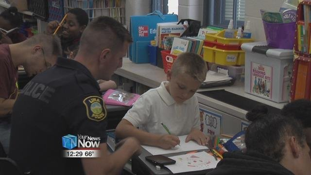 The Lima Police Department even offered six of their own to help to the students along the way.