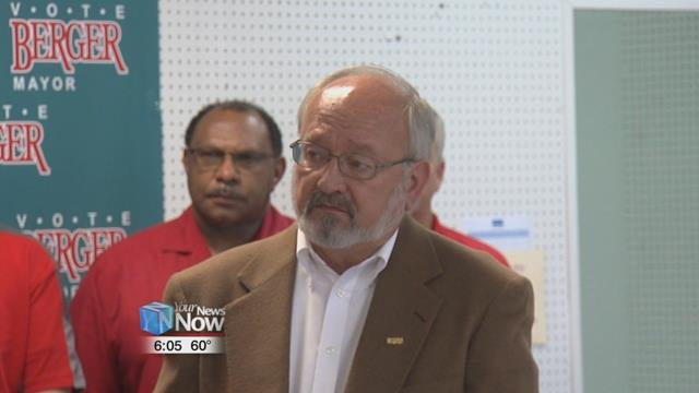 Mayor Berger is running against Keith Cheney in the Lima mayoral election.