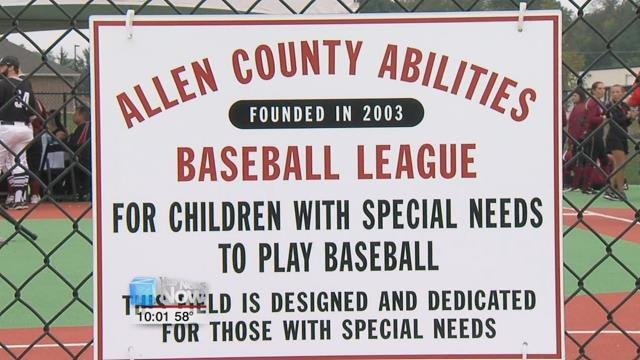 The diamond sits among the other athletic fields at the UNOH and is specifically designed for kids with special needs.