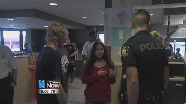 local law enforcement talked with community members to help build a relationship over some coffee.