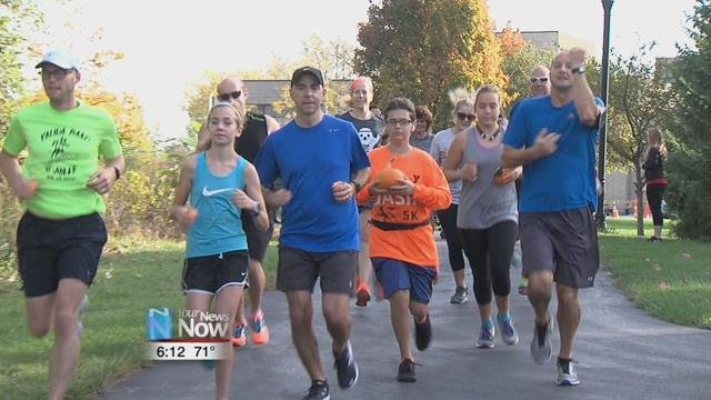 about 30 people did just that in the Lima YMCA's first ever Pumpkin Run.