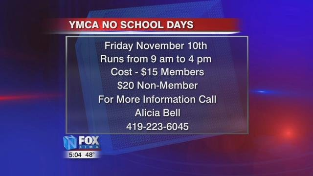 If you have questions, call Alicia Bell at the Lima YMCAat 419-223-6045.
