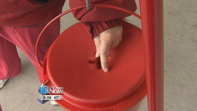 We'll be seeing the iconic red kettles in spots all around the citystarting Monday through Christmas.