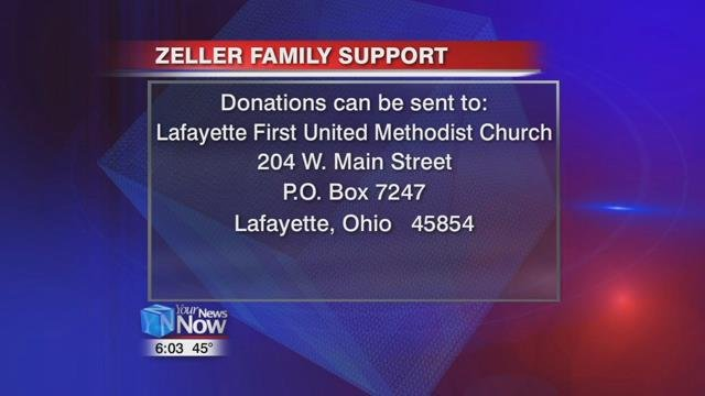 If you would like to help Zeller, you can send a contribution to the Lafayette First United Methodist Church at 204 W. Main Street, P.O. Box 7247, Lafayette, Ohio 45854.