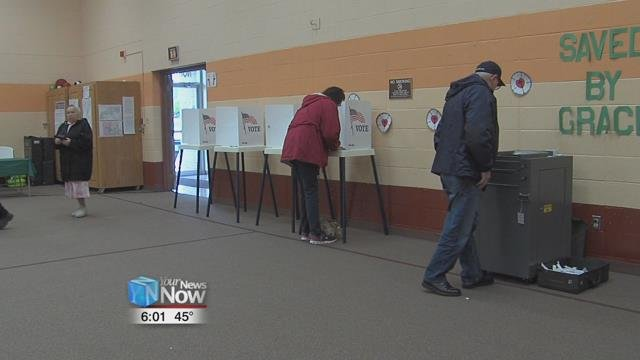 The Allen County Board of Elections says that in off year elections like this year, voting turnout is around 35 percent.