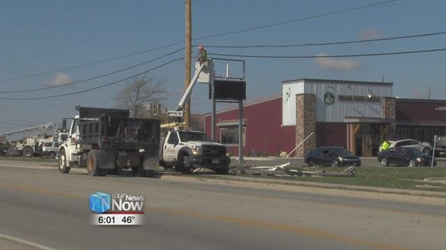 Another one of the businesses that was hit in Celina was C-Town Wings, where the clean up process is in full swing just days after the storm.