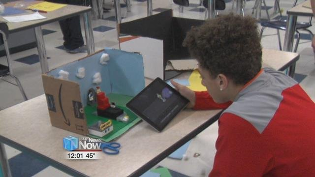 Seventh and eighth grade students at the South Science and Technology Magnet School in Lima are creating their own stop motion animations.