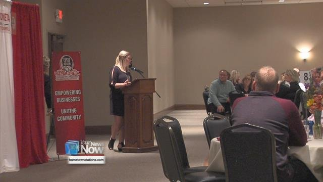 The Wapak Chamber of Commerce held their annual meeting and awards banquet at the Grand Plaza.