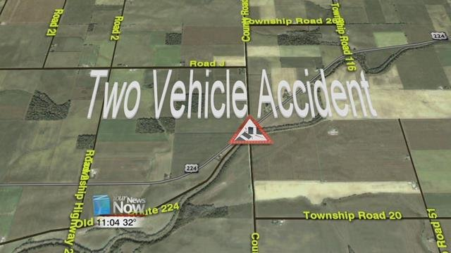 The Hancock County Sheriff's office is investigating a two-vehicle crash in Blanchard Township this afternoon.