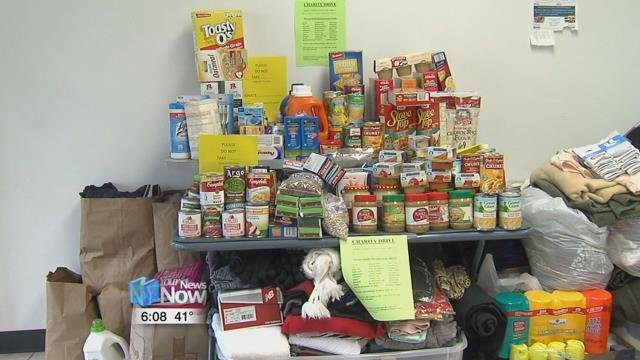 Nickel Steel has been collecting items such as gently used clothing, non perishable food and toiletries.
