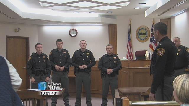 The four deputies -- Ryan Bullinger, Alan Ogle, Skyler Noble, and Evan Thomas -- were sworn in by Allen County Sheriff Matt Treglia after a long hiring process.