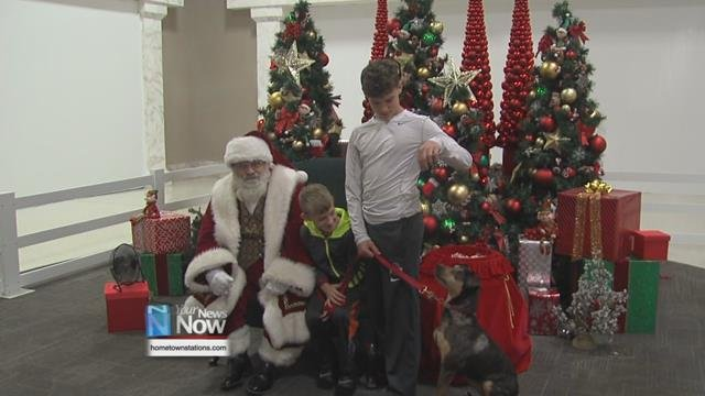 The mall hosts pet photo sessions each holiday season, opening the doors for the fun after the mall closes.