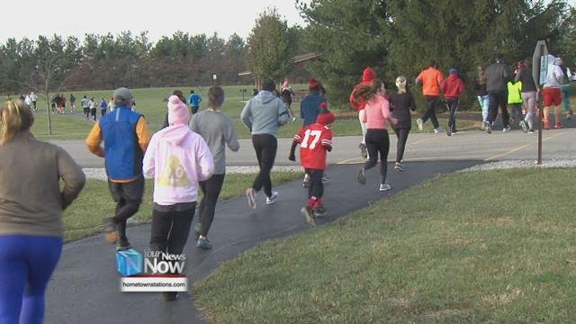 """Despite the chilly temperatures, around 170 brave people took part in the annual """"Turkey Trot"""" out at Ottawa Metro Park."""