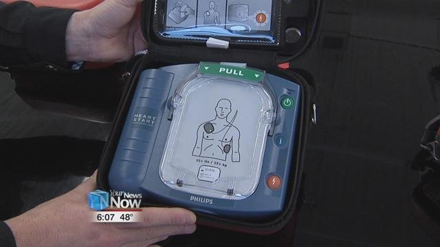 The Allen County Sheriff's Office accepting the donation of four automated external defibrillators to be used by deputies out in the field.