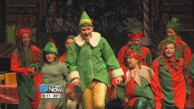 """Students from Liberty Arts Magnet School performed two shows of """"Elf The Musical"""" for fellow Lima City Schools at Lima Senior High School on Friday."""