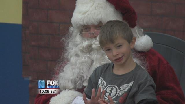 Santa keeps to himself and allows the children to approach him when they want and are ready.